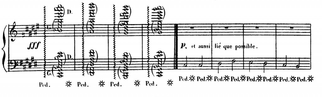 譜例2:『大ソナタ』フゲッタ冒頭