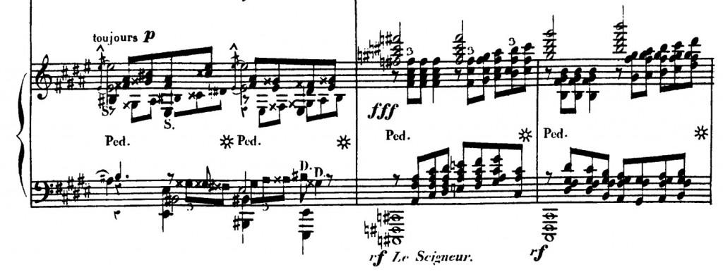 譜例3:『大ソナタ』フゲッタ終盤