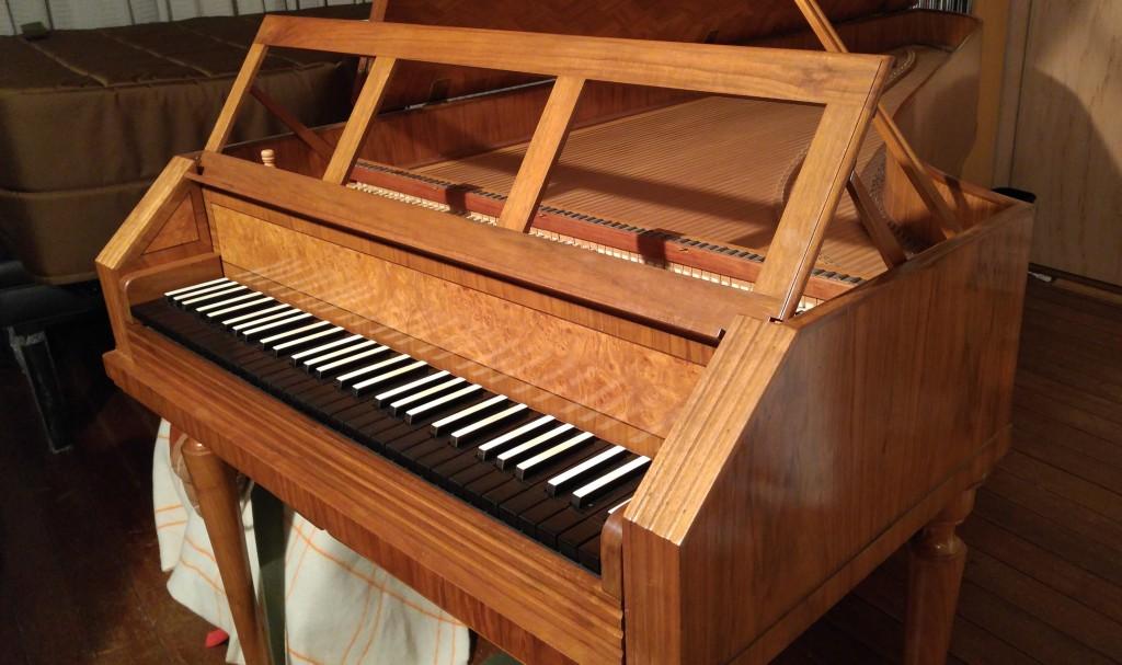 フォルテピアノの練習